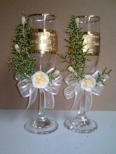 Decoracion de copas para boda copas para boda inicio - Copas decoradas con velas ...