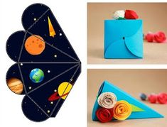 Fábrica de Sonhos: Caixinhas Astronauta - 1 Magic Crafts, Diy And Crafts, Crafts For Kids, Paper Crafts, Space Party, Space Theme, Sons Birthday, 4th Birthday Parties, Space Preschool