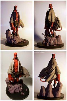 Alban Ficat - TOYSREVIL: Revealed: Hellboy Mignola french resin statue from Fariboles Productions Comic Character, Character Concept, Character Design, Vinyl Toys, Vinyl Art, Disney Infinity, Mike Mignola Art, 3d Art, Crazy Toys