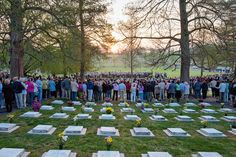 EASTER SUNRISE SERVICE at GOD's Acre in OLD SALEM. This is the longest running and largest Easter morning services in the country. Must attend at least once in your life. Winston-Salem Blossoms in the Spring | Visit Winston Salem, NC