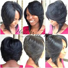 Superb 1000 Images About Bob Hairstyles Sew Ins On Pinterest Feathered Short Hairstyles Gunalazisus