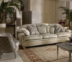 Traditional Sofas that Match for Your Traditional Interior Style: Gorgeous Green Corner Decoration Inspiration Traditional Sofas White Color. Sofa Design, Furniture Design, Traditional Sofa, Traditional Interior, Chesterfield Sofa, Modern Design Pictures, Affordable Furniture Stores, Interior Design Gallery, White Sofas