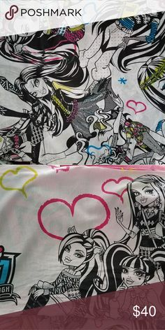 Monster High twin sheets Fitted sheet, flat sheet and pillowcase Other