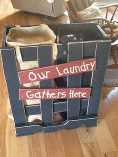 My sis in law made this laundry hamper for me :) I love it!!!!!