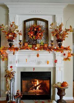 Modern Thanksgiving Mantel Decor