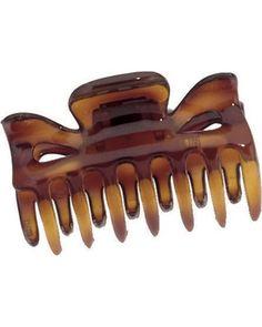 Hårklämma, brun, marinblå eller genomskinlig helst Brown