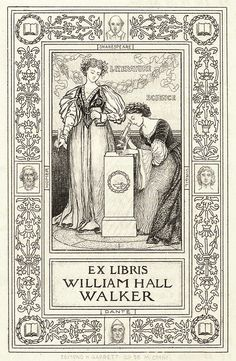 Ex-libris of William Hall Walker. From Bookplates selected from the works of Edmund H. Garrett, Boston, 1904. Seen at http://archive.org/details/bookplatesselect00garrrich