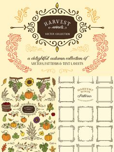 Harvest Winds Vector Collection by Ornaments of Grace | The Ultimate Designer's Collection (Huge Variety of Best-Selling Resource) Feb 2015