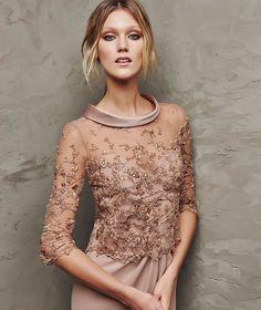 Beautiful cocktail dress idea for a bridesmaid...love the colour!
