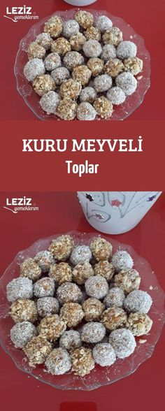Dried Fruit Balls - My Delicious Food - Trends 📌 Cake Recipes, Snack Recipes, Dessert Recipes, Cooking Recipes, Fruit Snacks, Healthy Snacks, Food Trends, Turkish Recipes, Dried Fruit