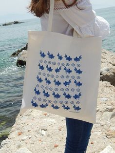 Ancient Rooster  Cotton Tote