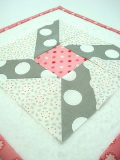pink and grey block tutorial by Lori Holt  Love the color combo of pink and grey