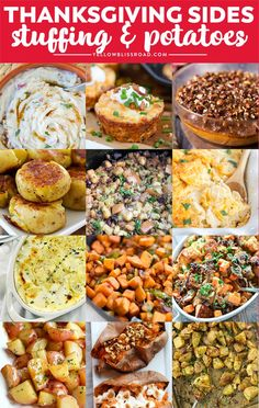 Thanksgiving Dinner List, Best Thanksgiving Side Dishes, Thanksgiving Recipes, Twice Baked Sweet Potatoes, Chorizo, Pressure Cooker Sweet Potatoes, Pumpkin Mac And Cheese, Herb Roasted Potatoes, Gratin