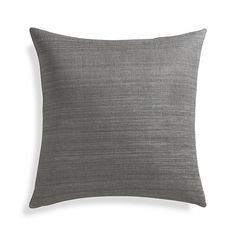 """Michaela Smoke Grey 20"""" Pillow   Crate and Barrel - $44.95 (less 15% is $38.20)"""