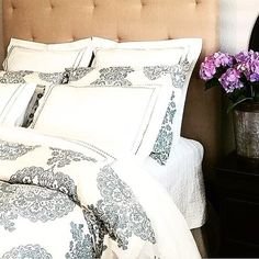 A few flowers by the bedside never hurt any one ;) #mypotterybarn