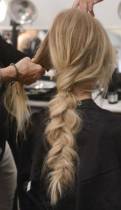 Mara Hoffman Spring 2015 hair #messybraid