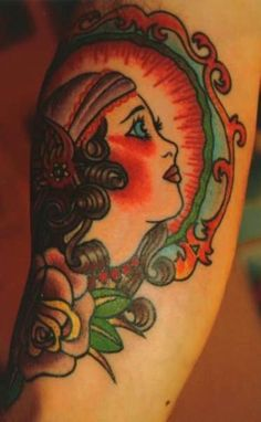 gypsy lady tattoo only with less color I'd take it