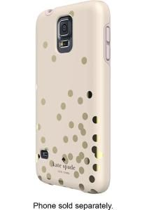 kate spade new york - Confetti Hybrid Hard Shell Case for Samsung Galaxy S 5 Cell Phones - Gold/Cream - Larger Front