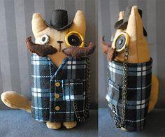 Novo modelo do Leroy, o Gato Steampunk! Você também pode escolher as cores que quiser, é só ver no mostruário!