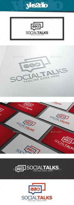 Social Talks  Logo Design Template Vector #logotype Download it here: http://graphicriver.net/item/social-talks-logo/10018561?s_rank=1787?ref=nexion