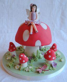 Fairy Toadstool Birthday Cake | Flickr - Photo Sharing!