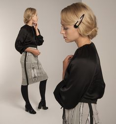from the Norwegian designer Mette Møller Ruffle Blouse, Winter, Tops, Design, Women, Fashion, Winter Time, Moda, Fashion Styles