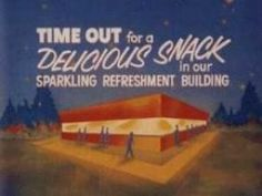 A Snack Bar Advertisement that was often shown at the drive in theater.
