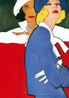 """""""Oh, so retro"""" by René Gruau."""