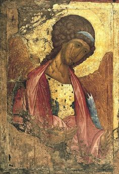 Andrei Rublev, Archangel Michael, Tempera on wood, The Tretyakov Gallery, Moscow Byzantine Icons, Byzantine Art, Russian Icons, Russian Art, Religious Icons, Religious Art, Andrei Rublev, Arte Latina, Biblical Art