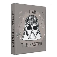 Darth Vader Doodle - I Am The Master 3 Ring Binder #star #wars #darth #vader #i #3RingBinder