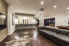 basement w/game room; wet bar; planked accent wall