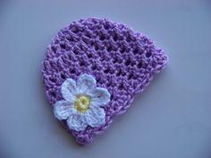 Crochet Purple baby hat