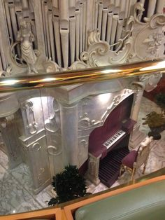 Boarding visitors of the MS Zaandam are greeted by the nearly 22-foot tall Dutch pipe organ at the foot of a three-deck high stairway.. This is the bottom of the organ.
