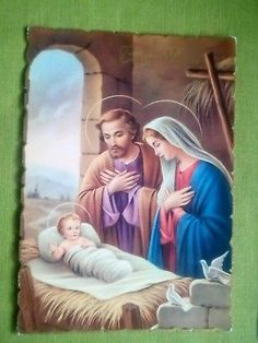 Lotto Di 4 Cartoline Buon Natale/ Buon Anno Holy Night, Holi, Toddler Bed, Frame, Decor, Xmas, O Holy Night, Child Bed, Picture Frame