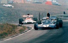 Jackie Stewart, Mosport 1972, Tyrrell 005... Followed by Howden Ganley (BRM P160C)