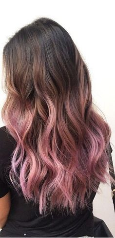 Pink for 2019 dyed hair ombre, hair dye, pink ombre hair, pastel pi Hair Color Pink, Cool Hair Color, Purple Hair, Pastel Ombre Hair, Dyed Hair Ombre, Purple Ombre, Dye My Hair, New Hair, Cabelo Rose Gold