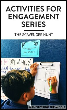 It should come to no one's surprise that students like activities. The post will explain why the scavenger hunt activity is a favorite amongst students and teachers, and how you can use it in your math classroom. | maneuveringthemiddle.com via @maneveringthem