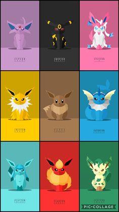 Whos your Fav Eeveelution? Eve Pokemon, Pokemon Craft, Pokemon Comics, Pokemon Funny, Eevee Cute, Pokemon Eevee Evolutions, Cute Pokemon Pictures, Pokemon Images, Cute Animal Drawings