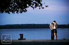 Sunset Water Old Town Alexandria Engagement Photography.jpg