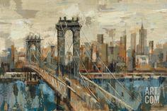 New York View Art Print by Silvia Vassileva at Art.com