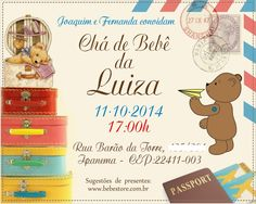 Convite Chá de Bebê - Invitation Baby shower. www.lonasdesign.com