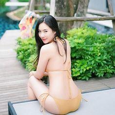 Wake me up 🐱 Thai Model, Bikinis, Swimwear, Thong Bikini, Photo And Video, Videos, Sexy, Pretty, Cute