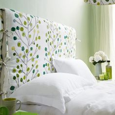 We have of bedroom pictures to inspire you, whether you want a country bedroom, modern bedroom or traditional bedroom scheme.Discover recipes, home ideas, style inspiration and other ideas to try.Fern green and w Diy Bed Headboard, Headboard Cover, Headboards For Beds, Upholstered Headboards, Home Bedroom, Bedroom Furniture, Bedroom Decor, Closet Bedroom, Master Closet