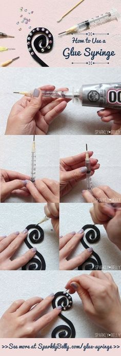 How to Use a Glue Syringe - This makes costume decoration with rhinestones faster!