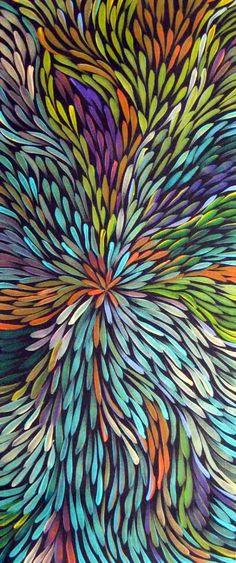 Australian Aboriginal art Gloria Petyarre - pattern based on the leaves of the kurrajong plant Gloria Petyarre, Kunst Der Aborigines, Australian Art, Indigenous Art, Dot Painting, Encaustic Painting, Aboriginal Art, Pattern Art, Painting Inspiration