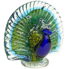 Art Glass Peacock