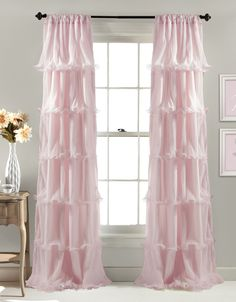 Amazon.com - Lush Decor Nerina Window Curtain, 84 by 54-Inch, Pink -