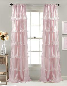 Amazon.com - Lush Decor Nerina Window Curtain, 84 by 54-Inch, Pink -