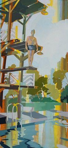 Diver, by LaGrange artist Signe Grushovenko