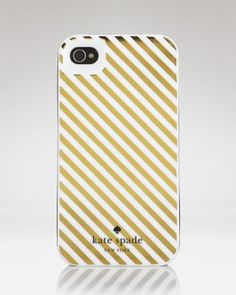 kate spade gold stripe iphone case